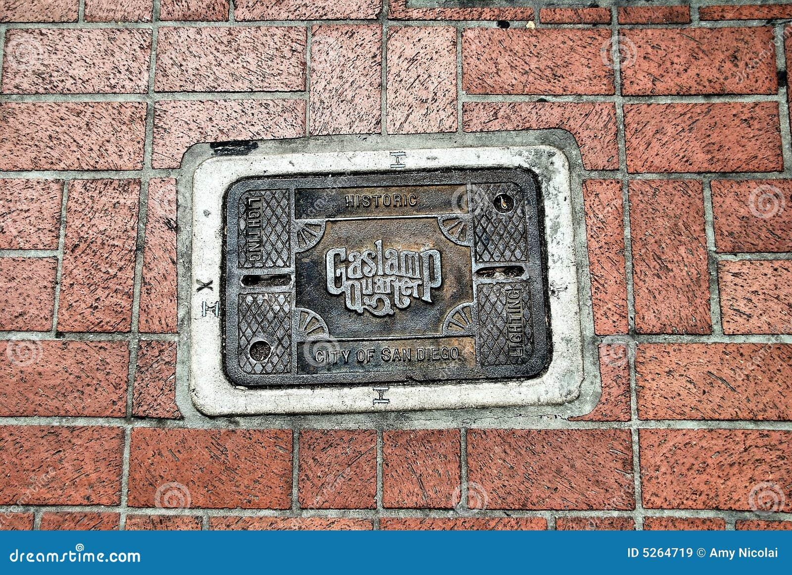 San Diego Gaslamp Quarter utility cover