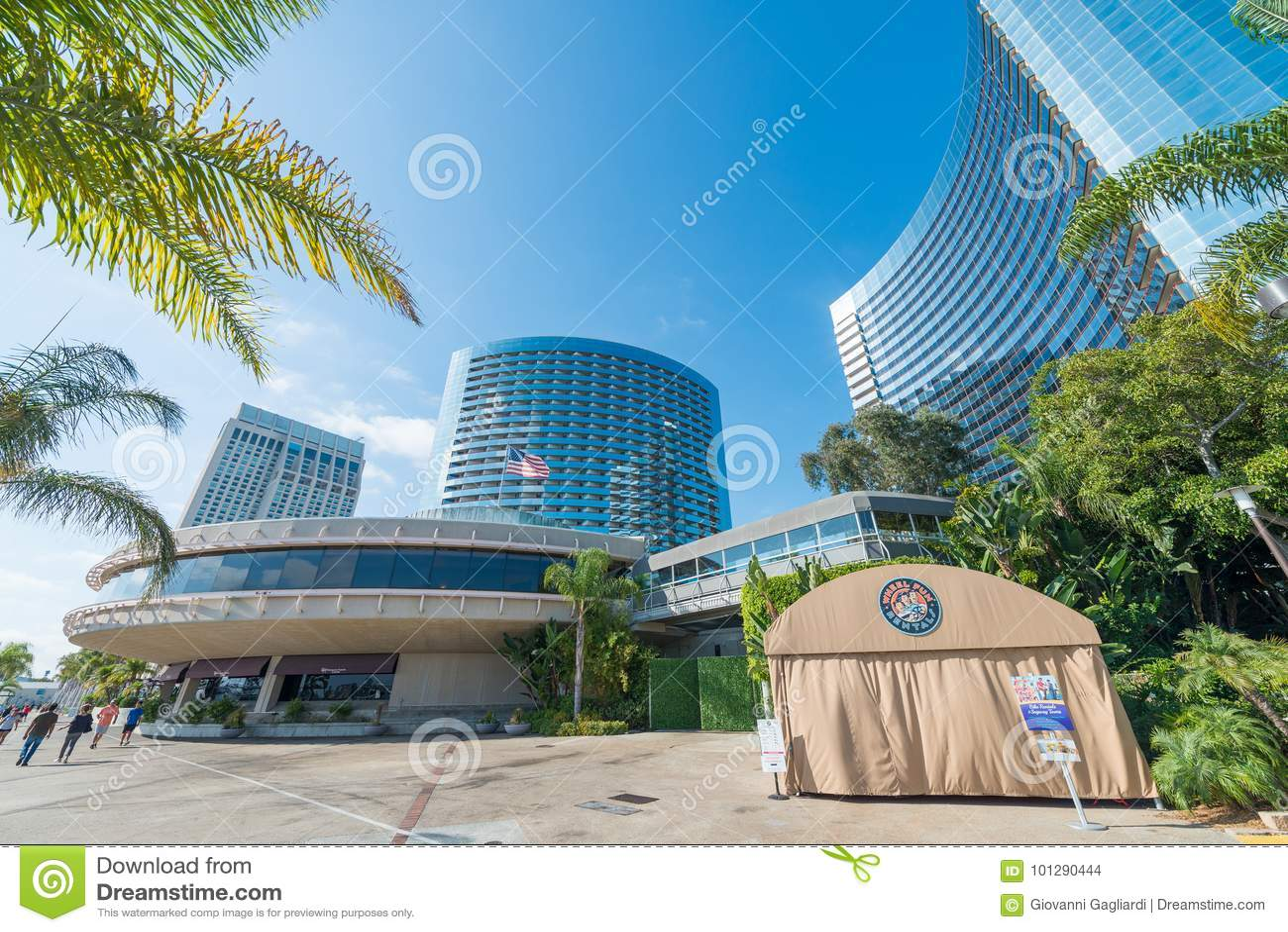 SAN DIEGO - JULY 29, 2017: Modern buildings of San Diego skyline