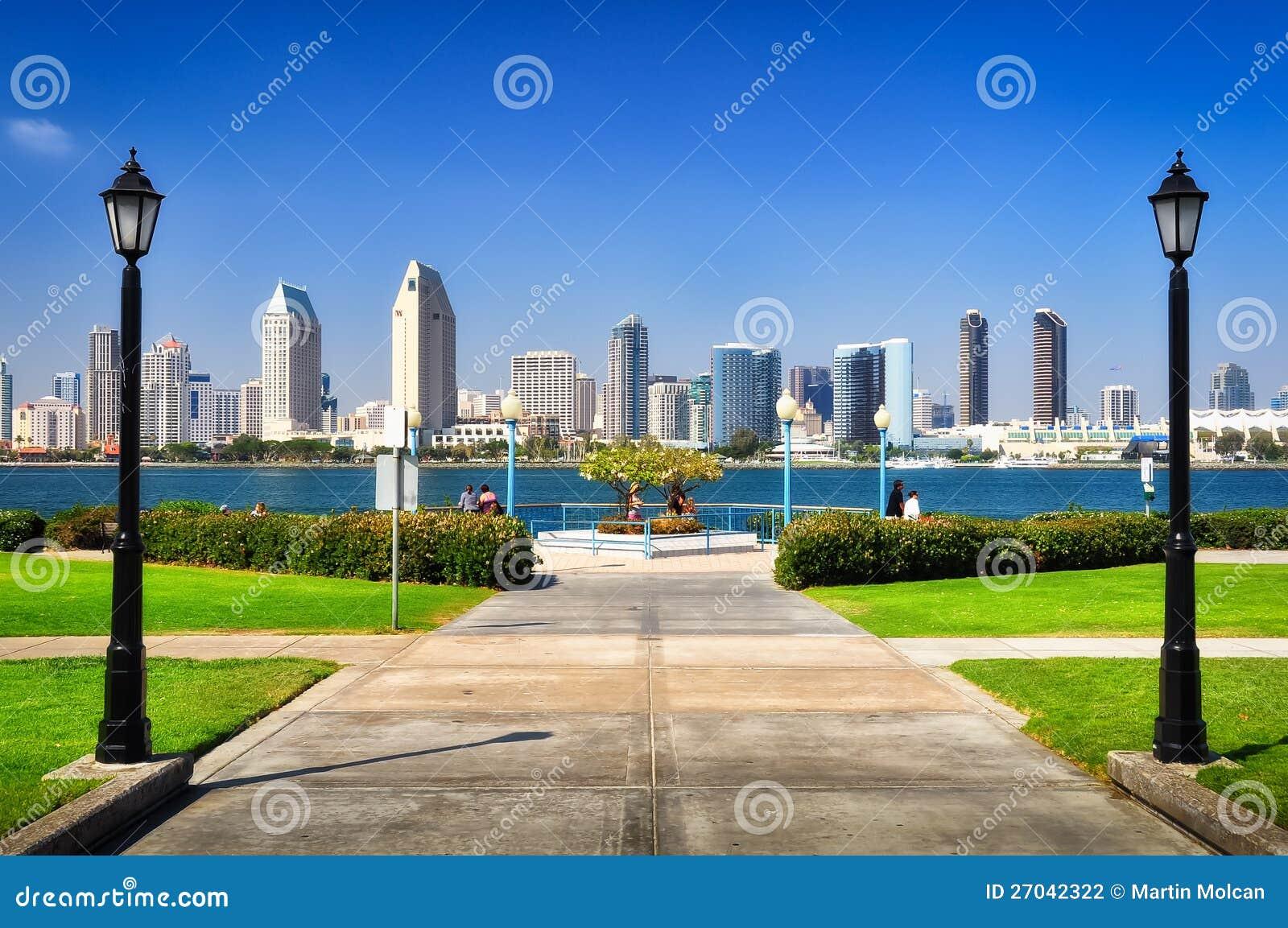 San Diego miasta widok od parka