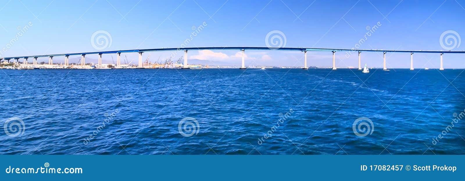 San Diego - panorama de passerelle de Coronado
