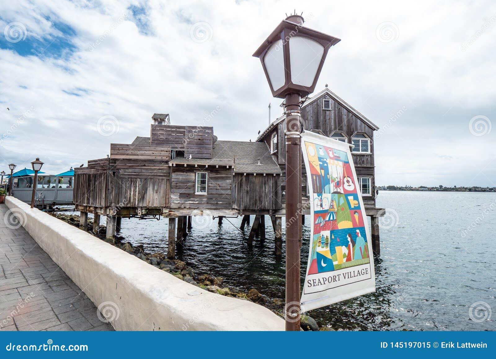 San Diego Seaport Village no oceanfront - CALIF?RNIA, EUA - 18 DE MAR?O DE 2019