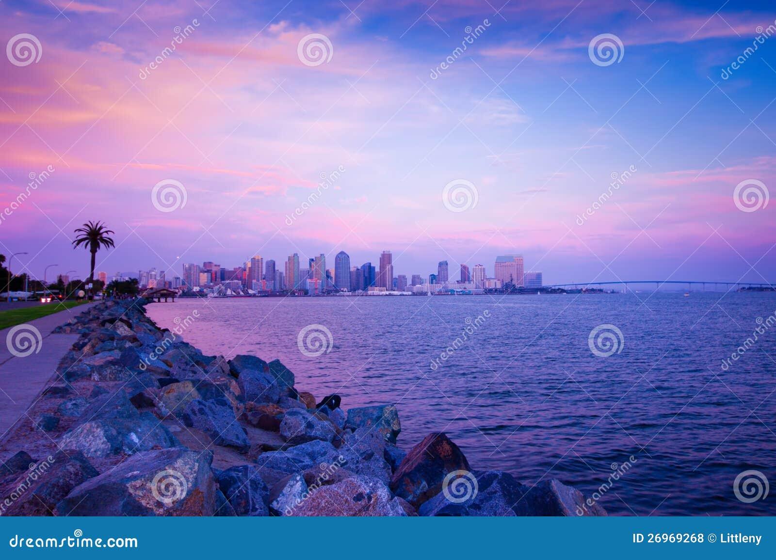 San Diego solnedgång