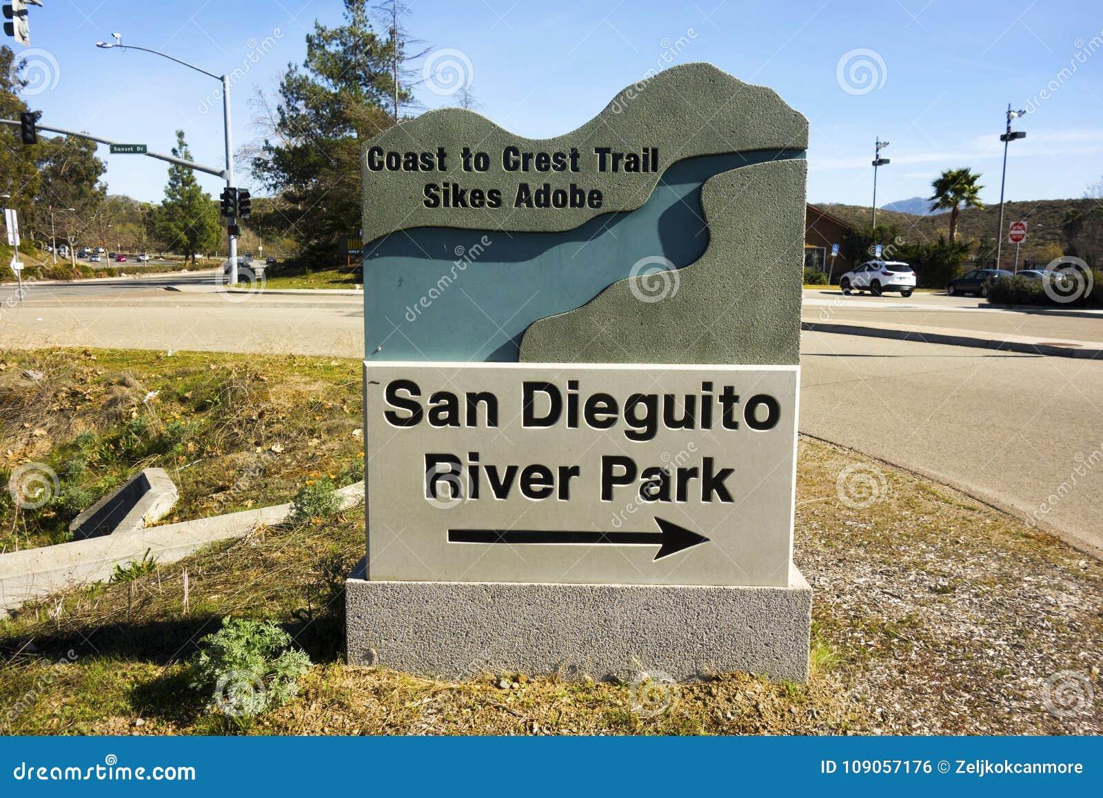 San Dieguito River Park Entrance Table Information Sign
