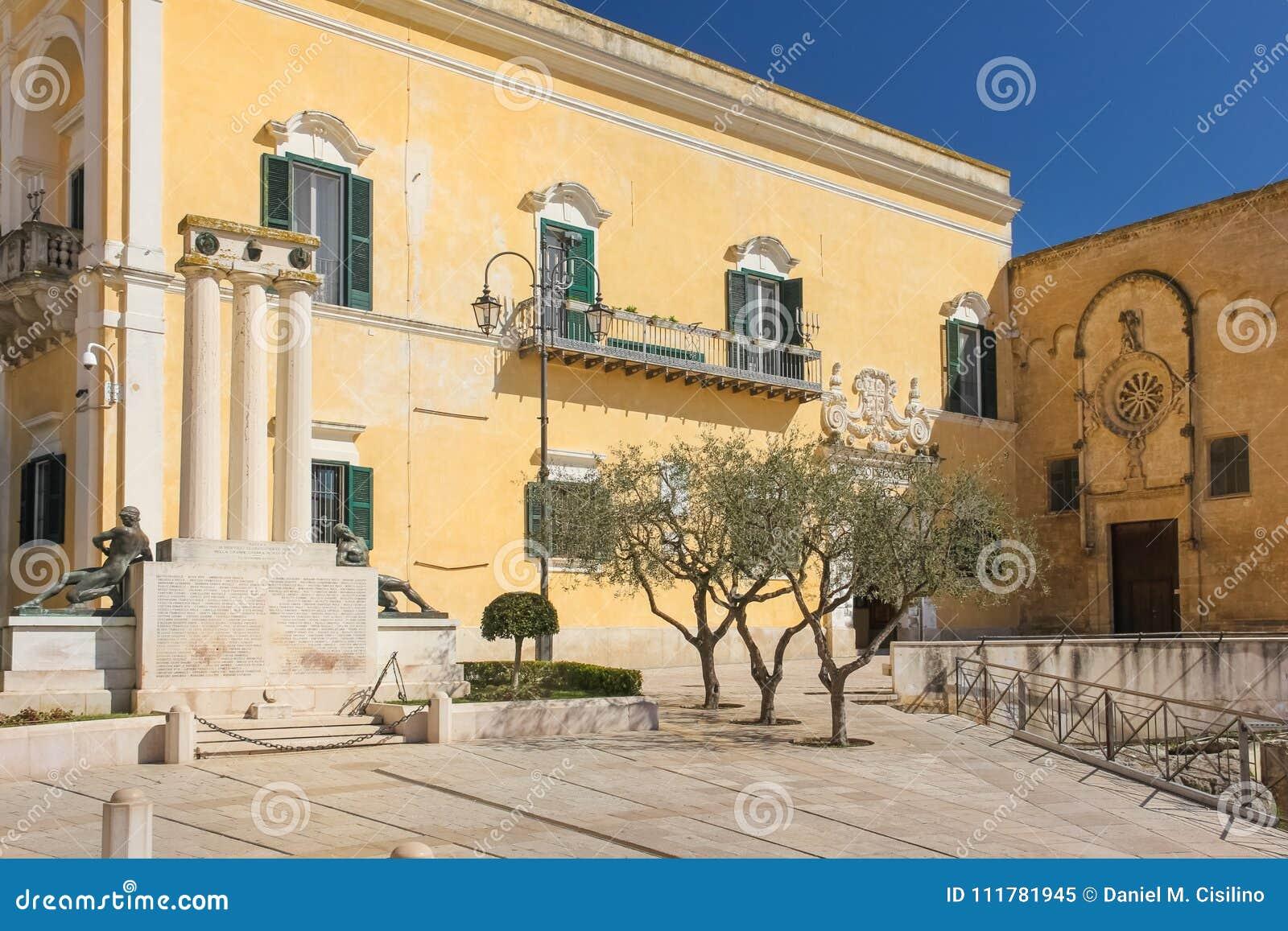 Piazza Vittorio Veneto. Matera. Basilicata. Apulia. Italy