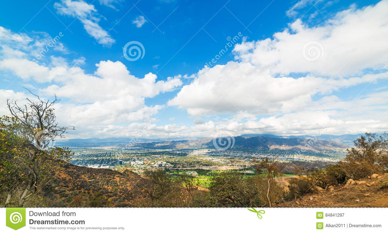 San Fernando Valley Seen From Mount Lee Stock Image Image Of