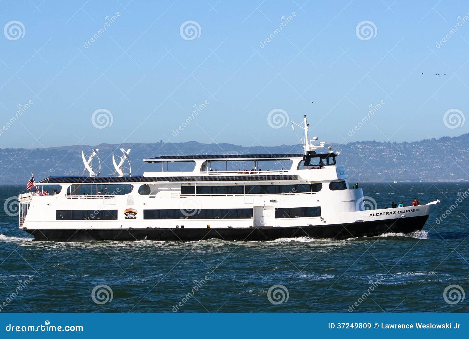 San Francisco Alcatraz Clipper Tour Boat Editorial Stock