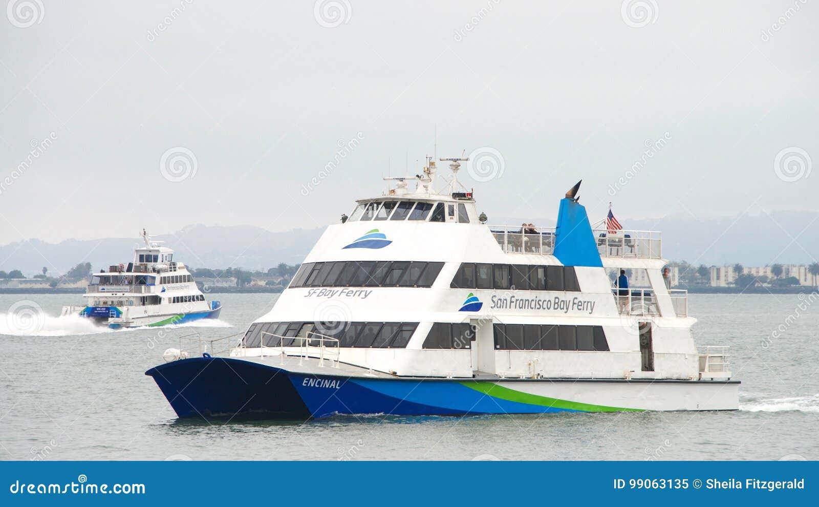 san francisco bay ferry encinal passing vallejo editorial image