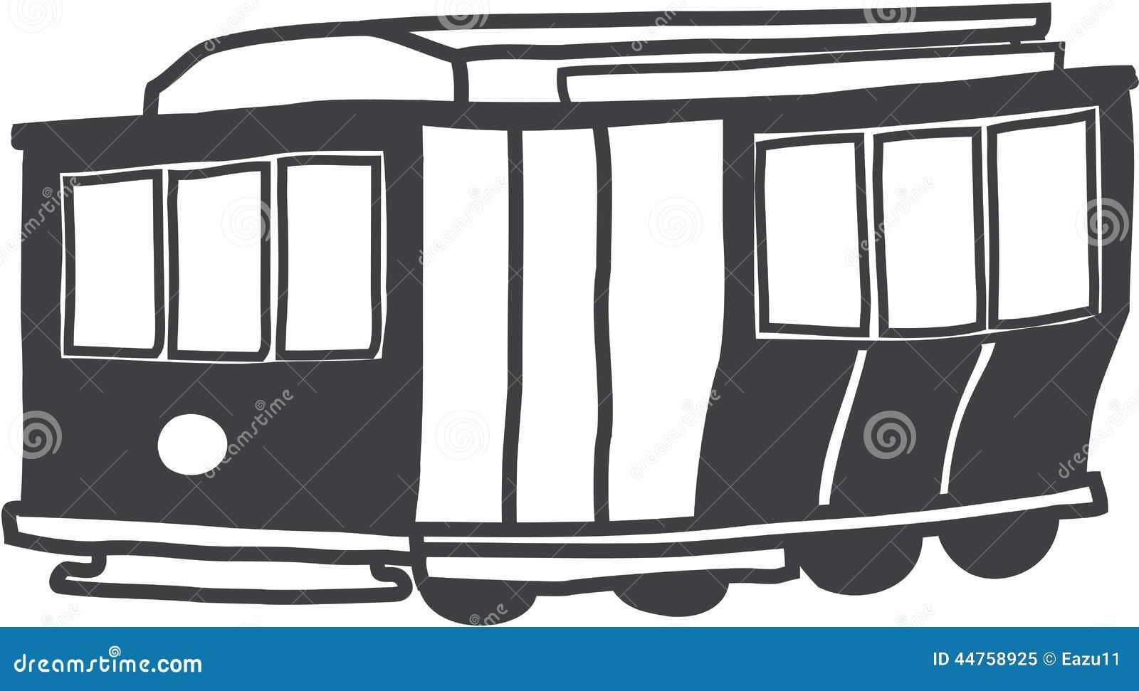 San Francisco Cable Car Drawing Stock Illustration - Illustration of ...