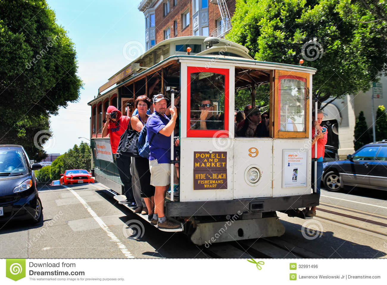 San Francisco Cable Car Russian Hill Editorial Photo Image 32991496