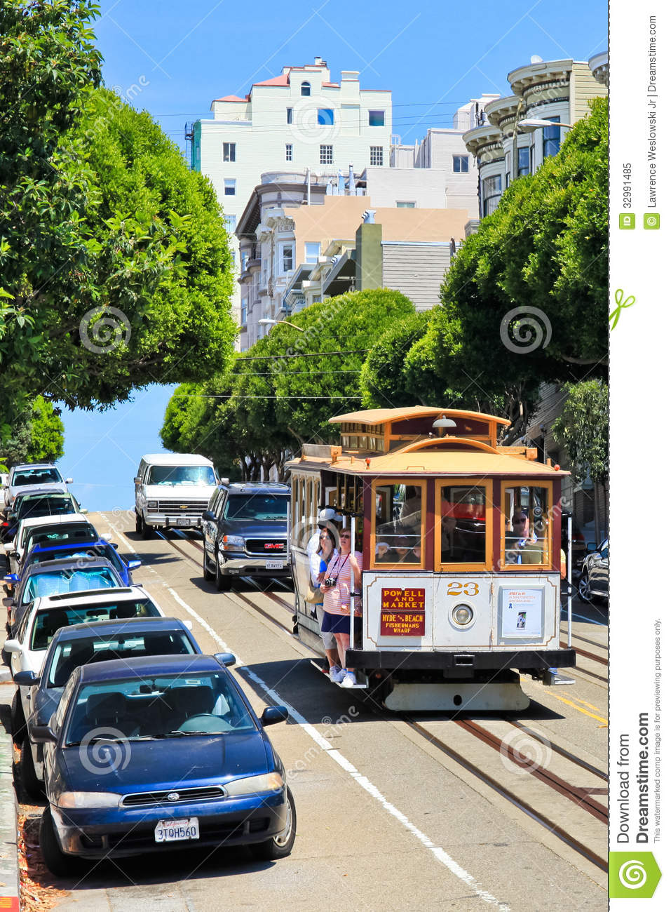 san francisco cable car hill the image kid has it. Black Bedroom Furniture Sets. Home Design Ideas