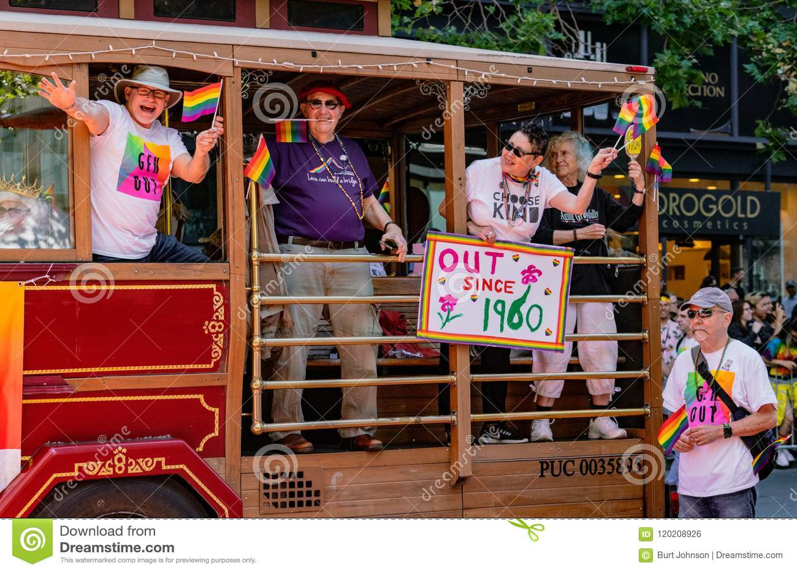 New York City Pride Parade Citi Employee Float Stock Photo