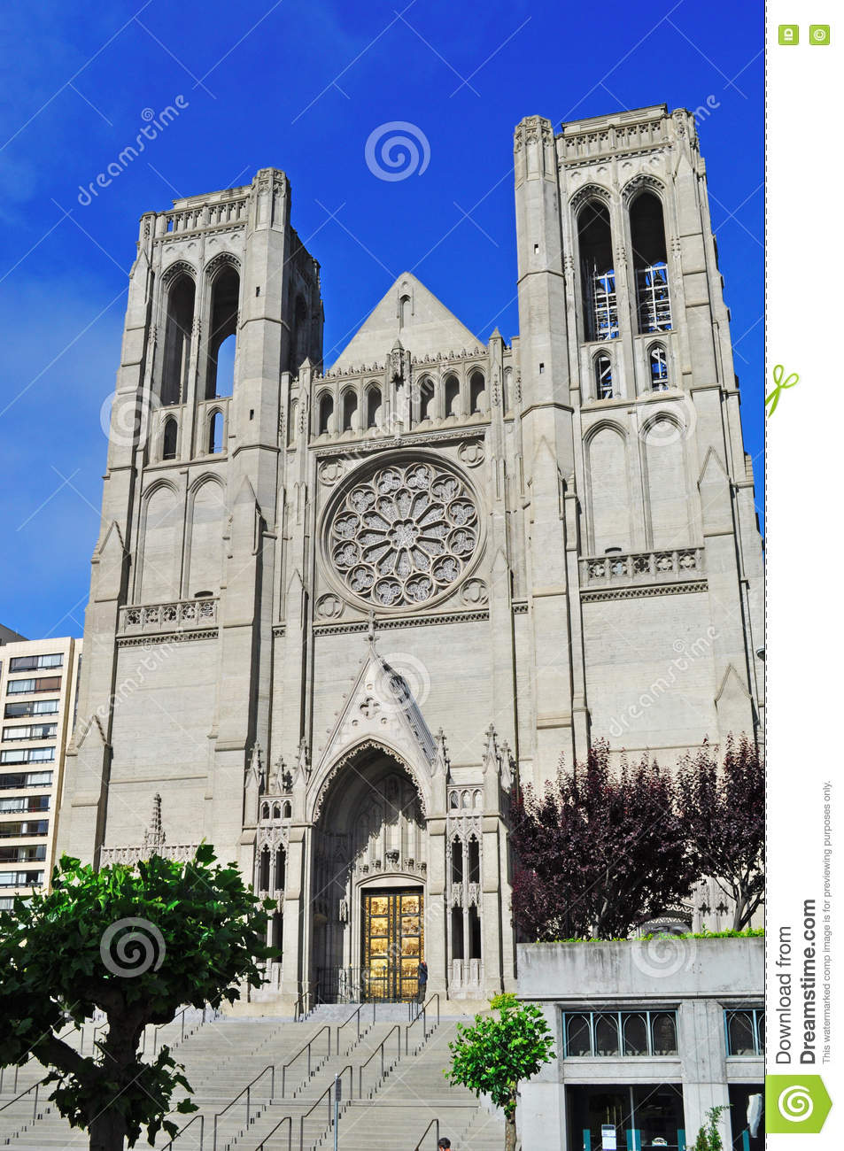 San Francisco, Grace Cathedral, rose window, architecture, Nob Hill, episcopal, California, United States of America, Usa
