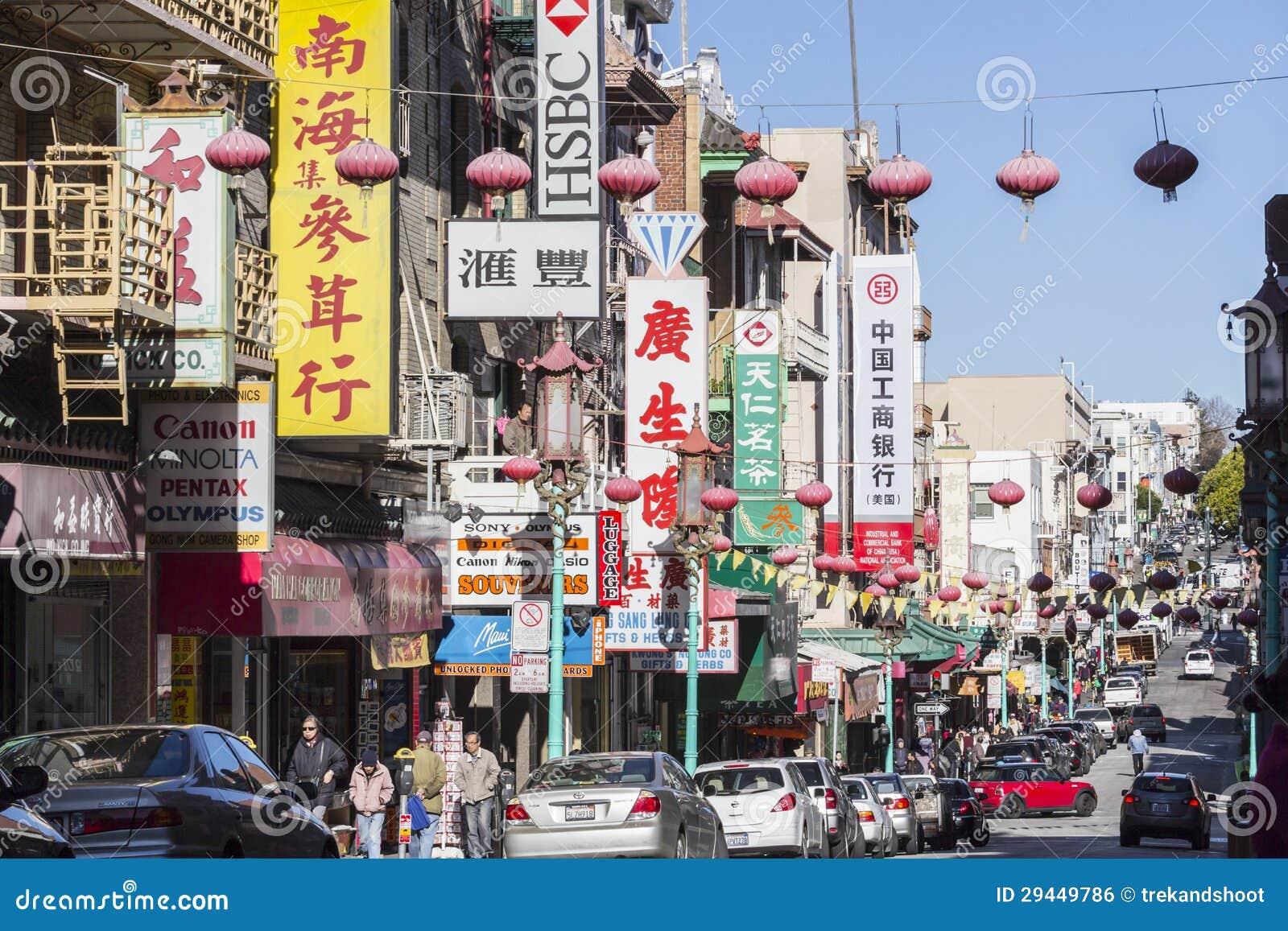 San Francisco Chinatown Redaktionelle Straßen-Ansicht Redaktionelles ...