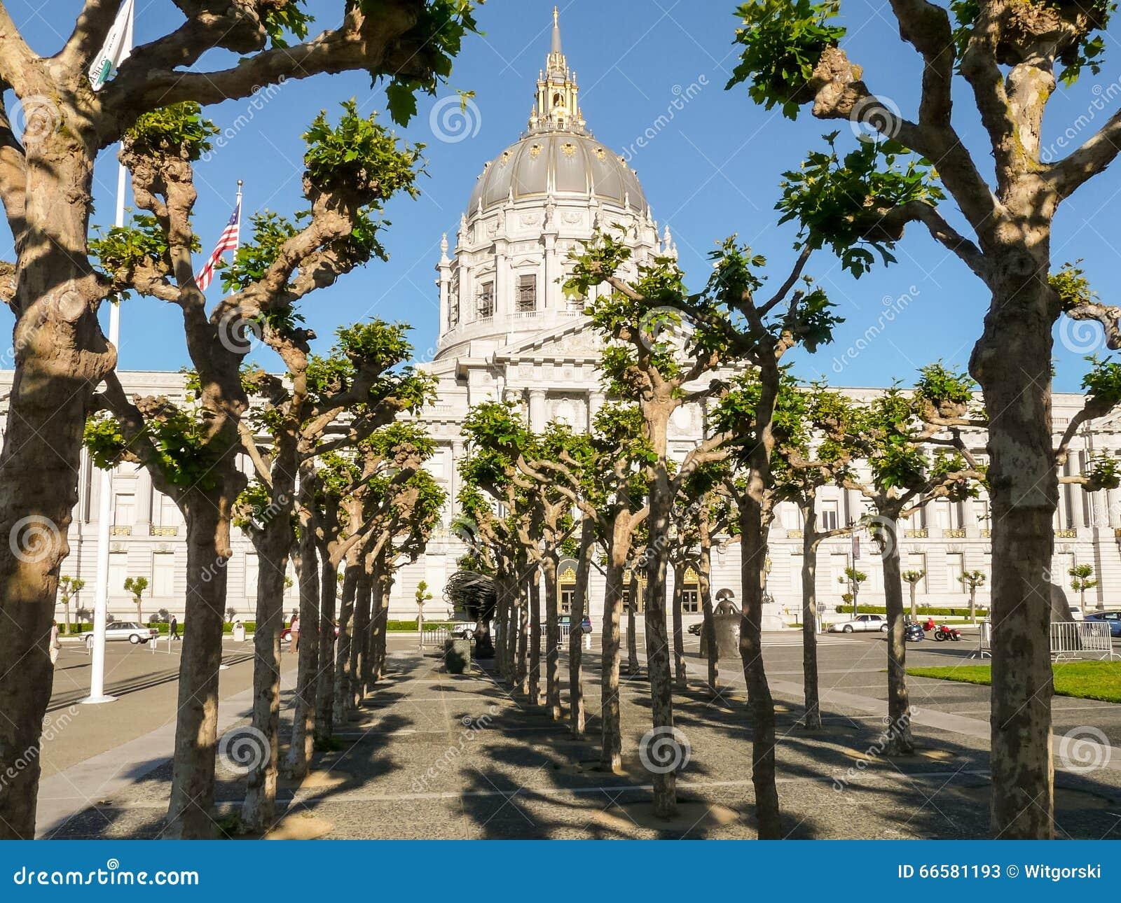 San Francisco City Hall During Christmas Royalty Free ...  San Francisco City Hall Trees