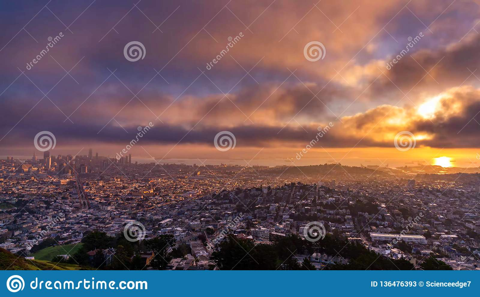 San Francisco City - skyline da cidade de San Francisco