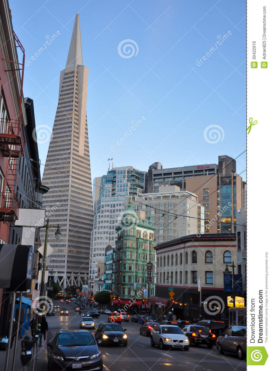 American Car Center >> San Francisco Financial District Editorial Photo - Image ...