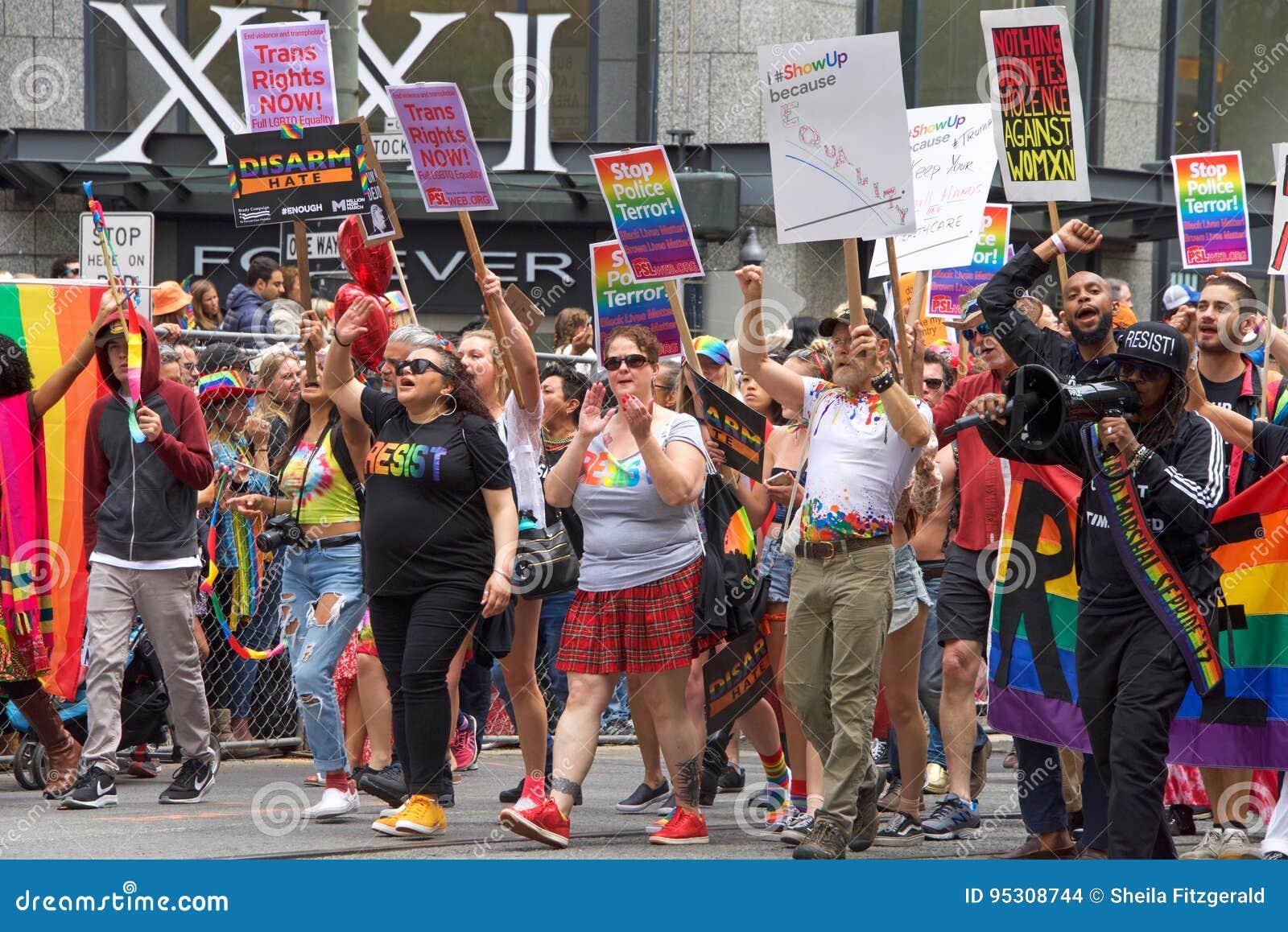 Gay Pride Parade In San Francisco - Lesbian Gay Band