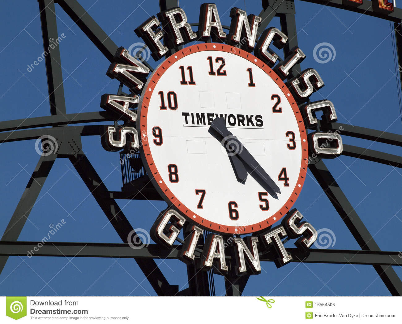 San Francisco Giants Scoreboard Clock by TimeWorks