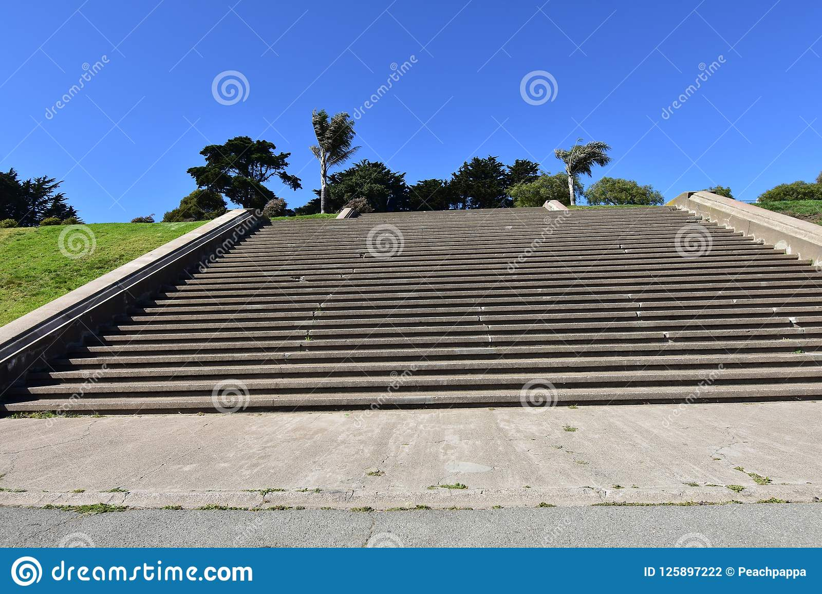 The movie damaged steps of Alta Plaza Park, 2.
