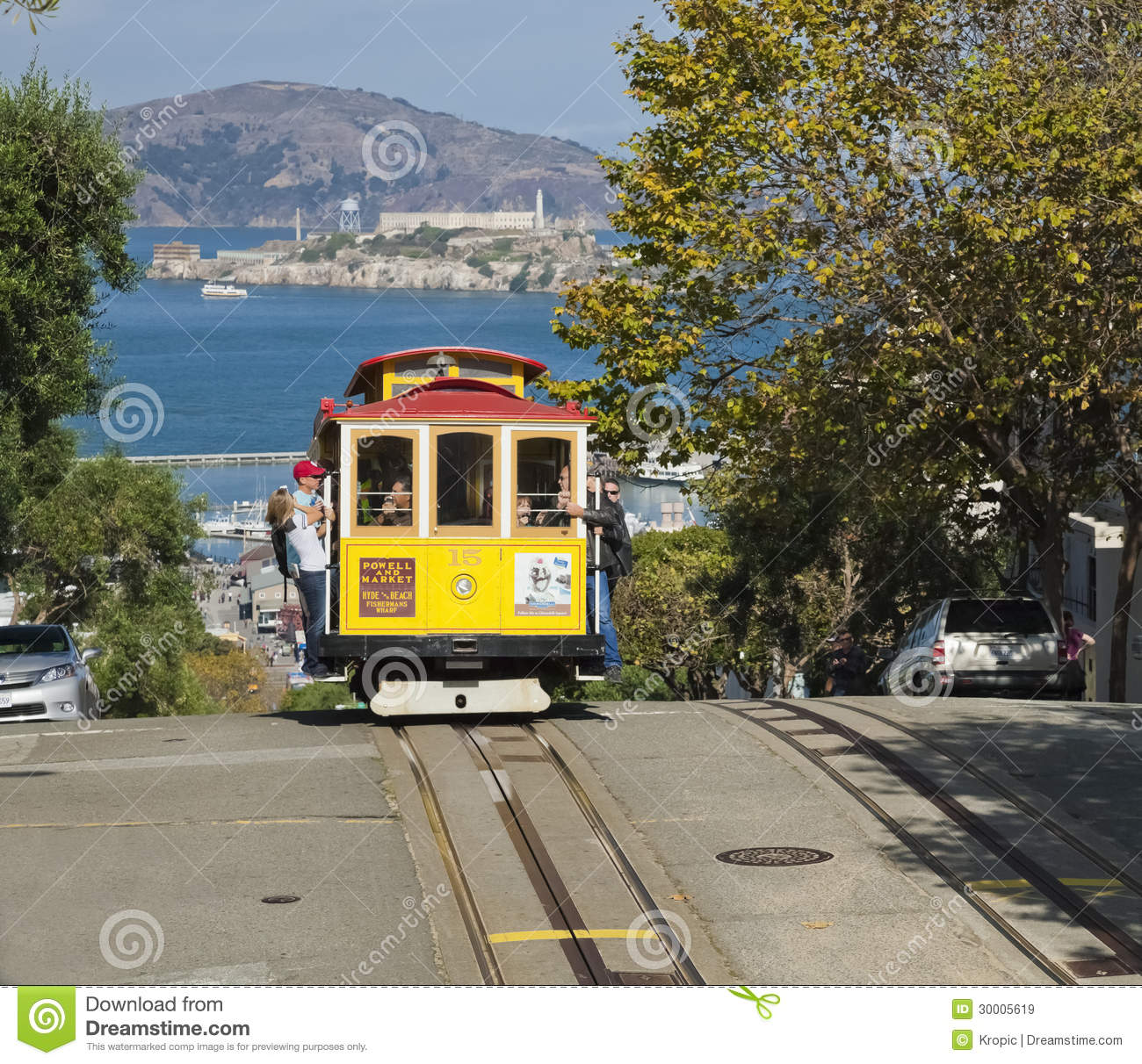 The Cable Car Tram Editorial Stock Image