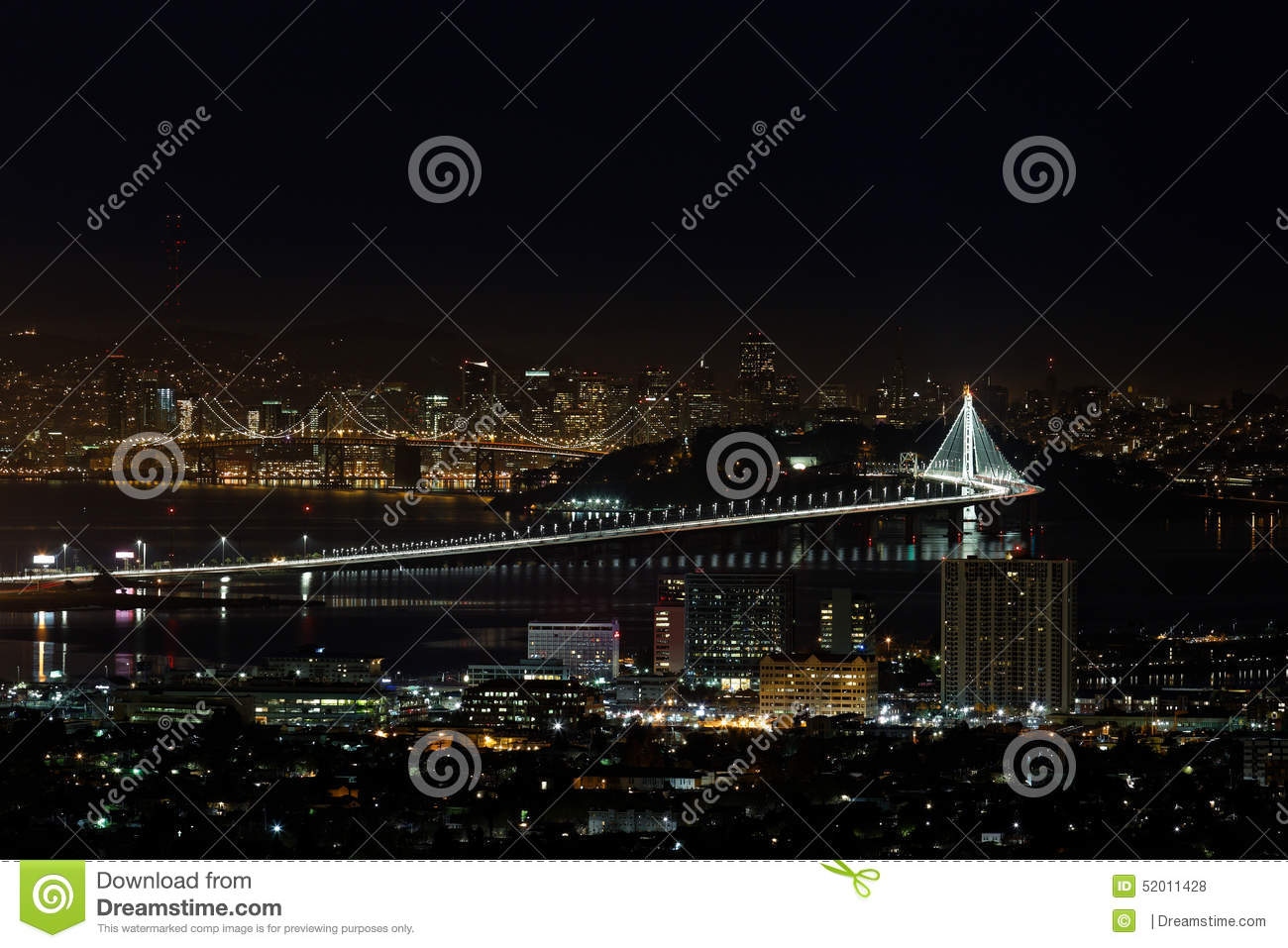 San Francisco Oakland Bay Bridge at Night (New Eastern Span)