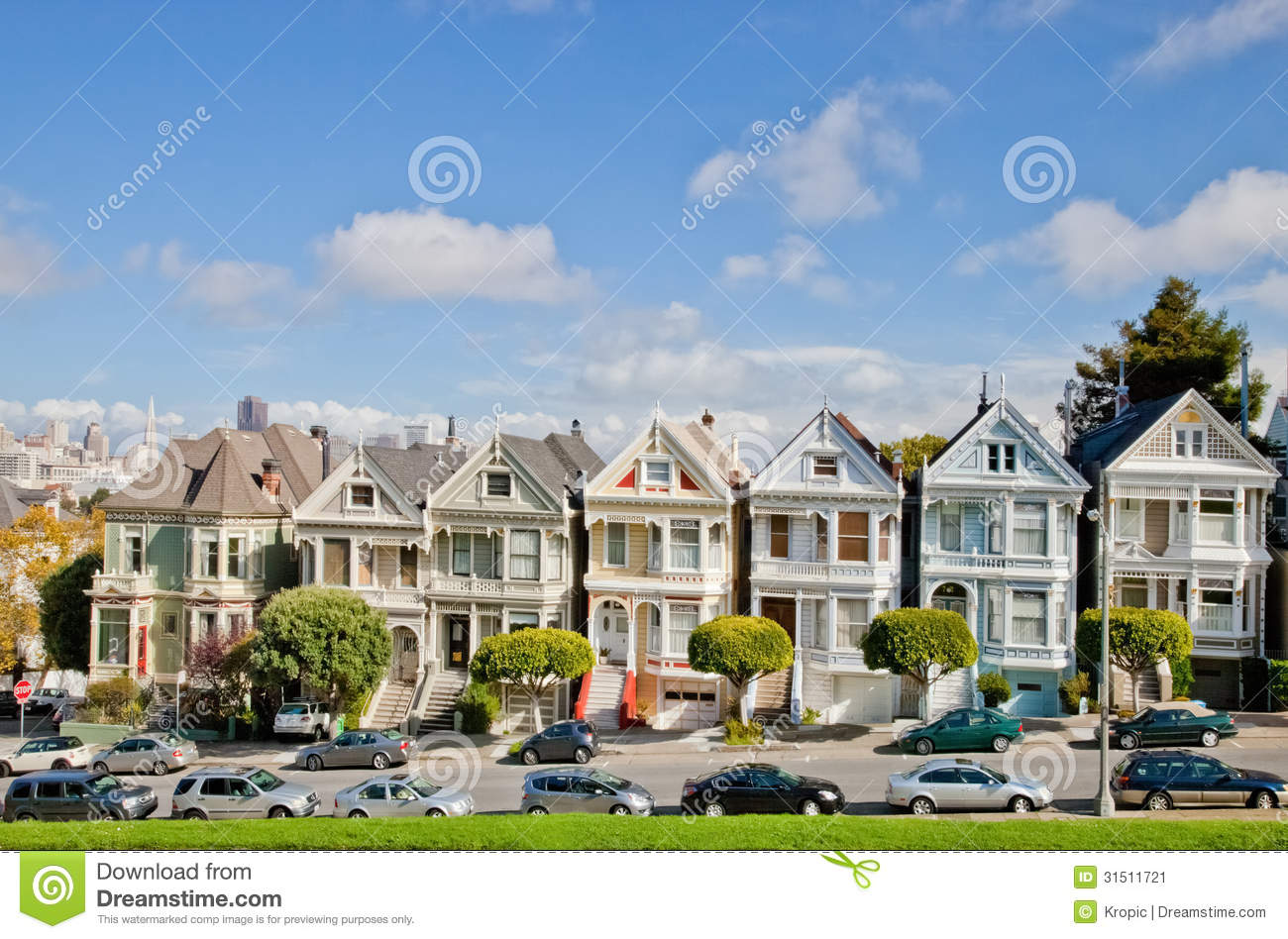 San francisco painted ladies editorial photo image of for Steiner street