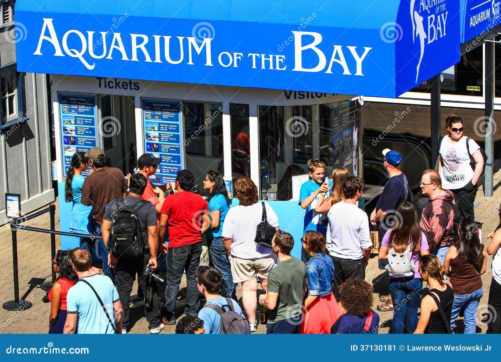 San Francisco Pier 39 Aquarium Ticket Booth Editorial