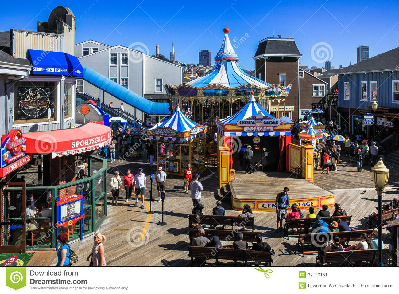 San Francisco Pier 39 Carousel And Stage Editorial Photo