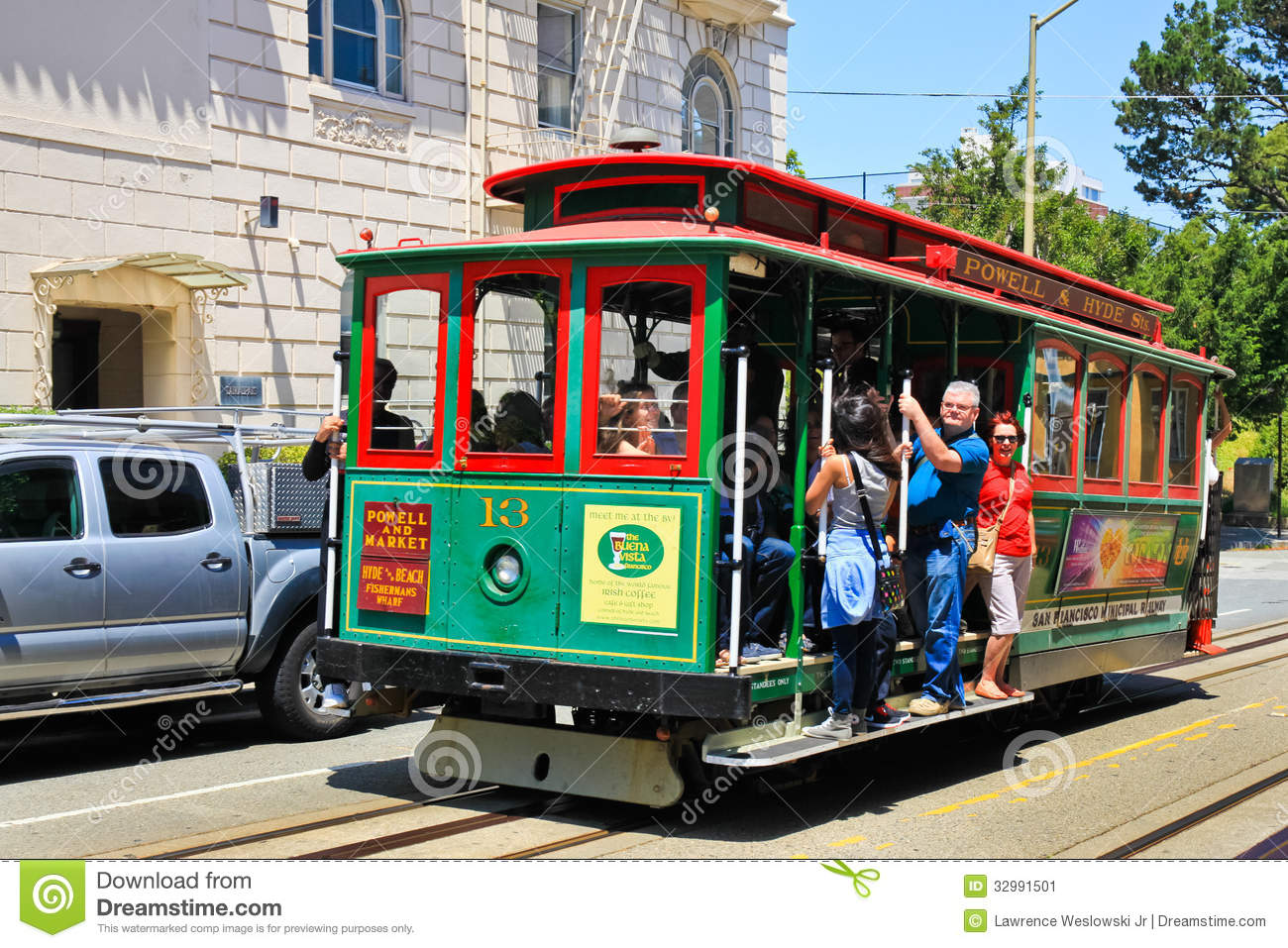 San Francisco Powell Hyde Cable Car Russian Hill Editorial Photo