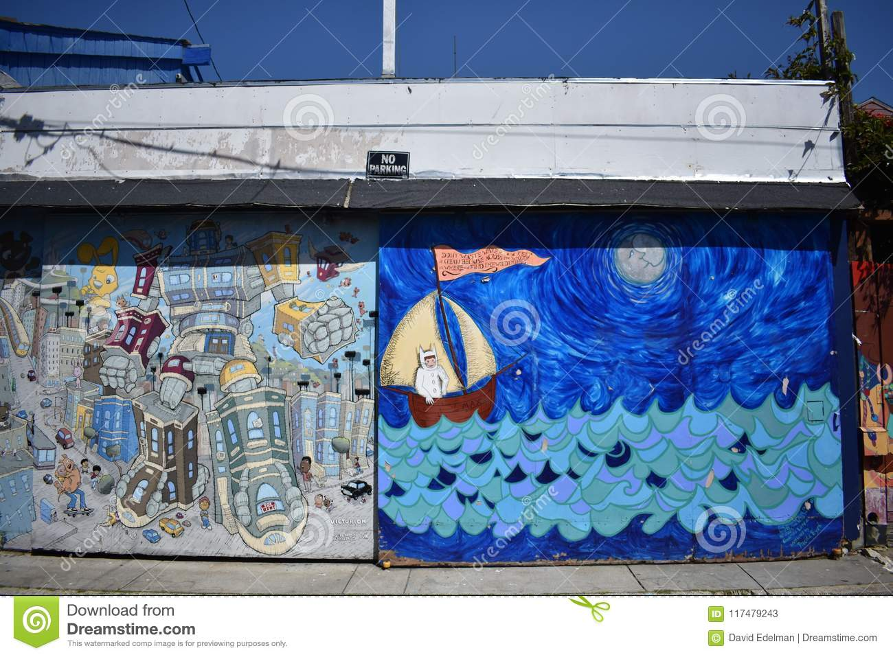 San Francisco S World Recognized Balmy Alley Murals 35 Stock Image