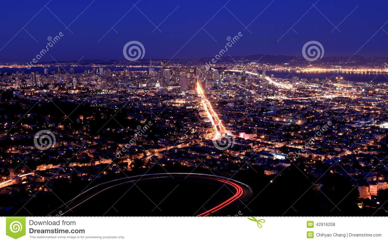 San Francisco - SF Night View from Twin Peaks