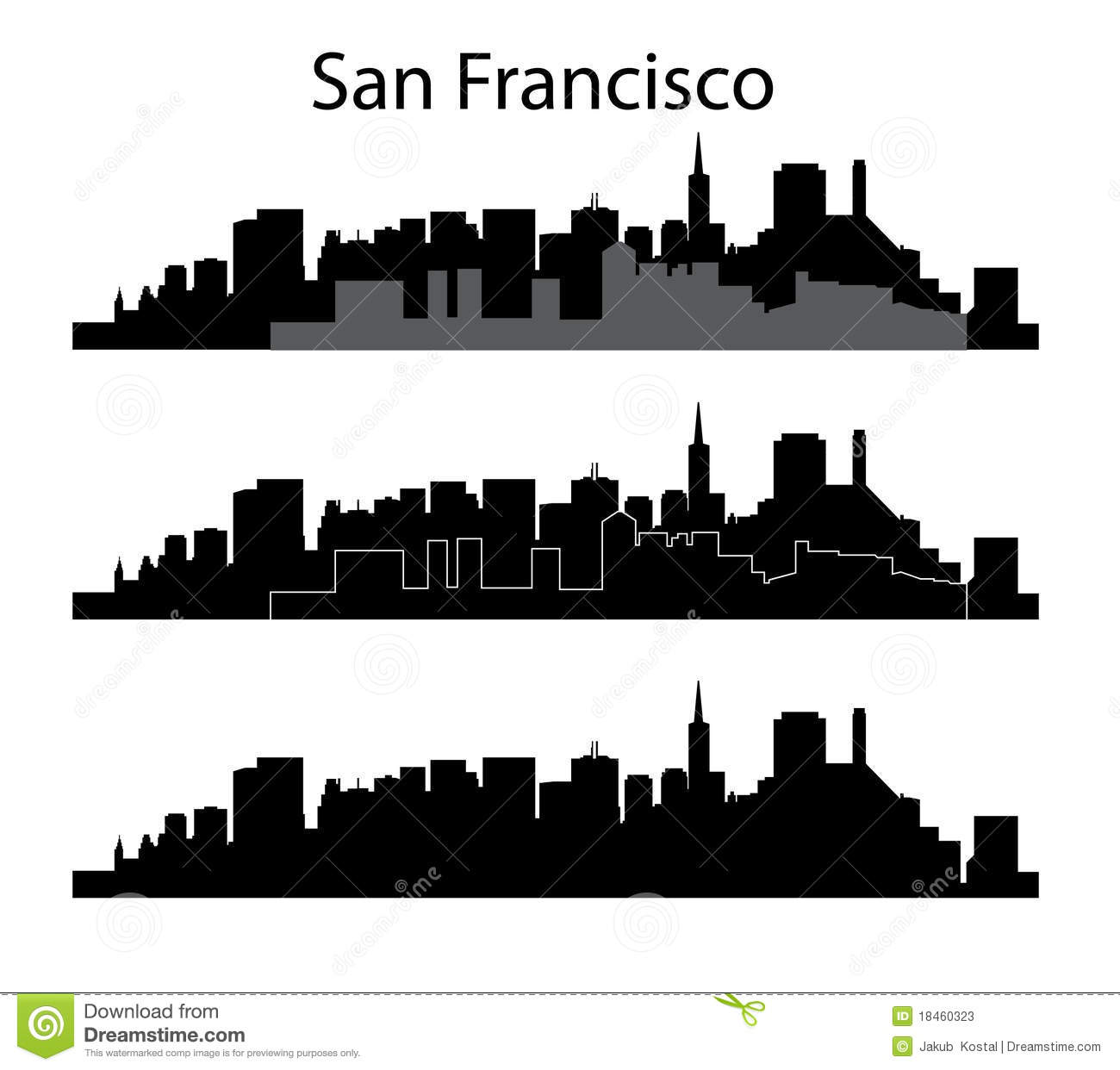 san francisco silhouette stock vector illustration of holiday