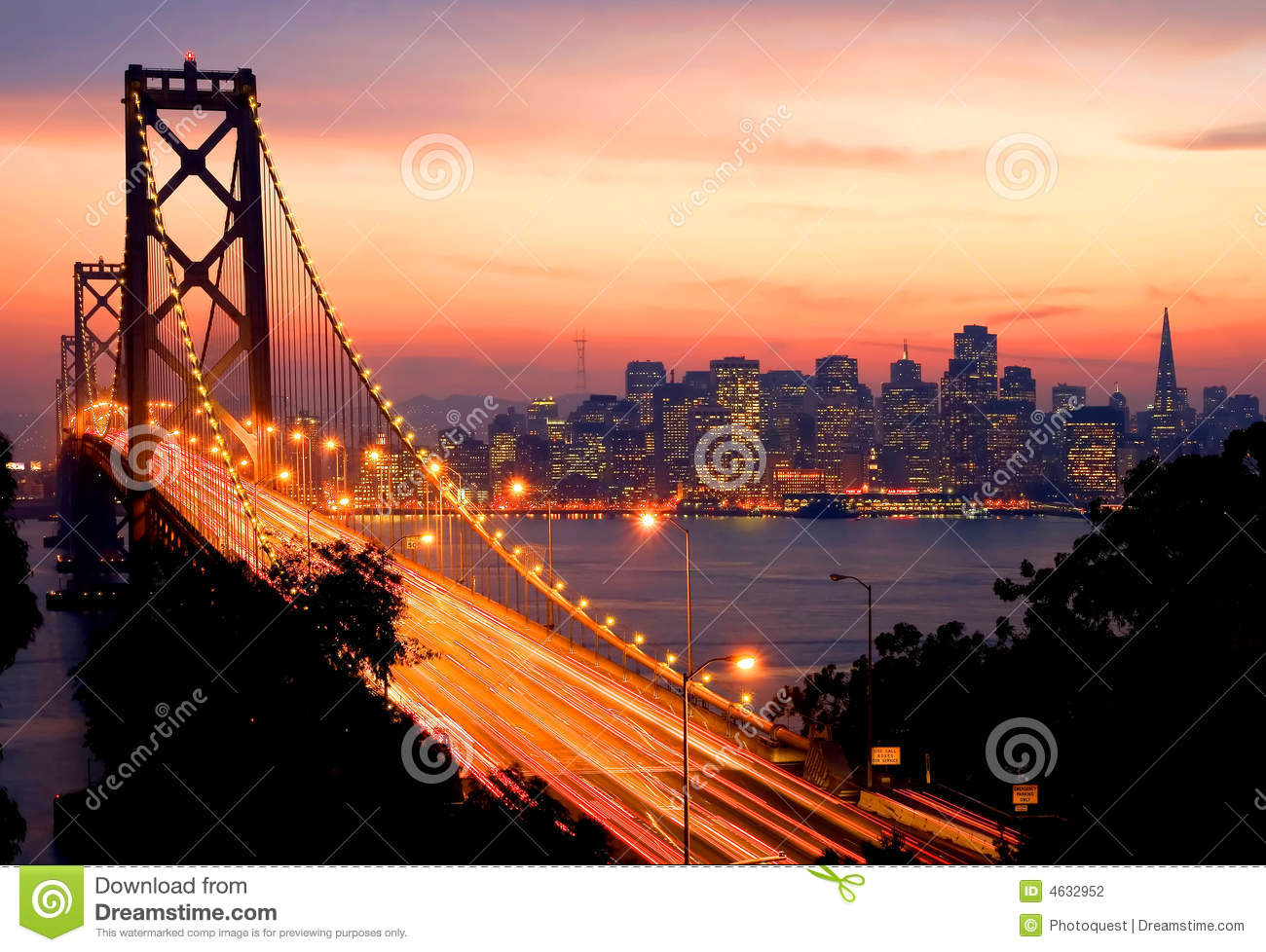 san francisco am sonnenuntergang stockfotografie bild 4632952. Black Bedroom Furniture Sets. Home Design Ideas