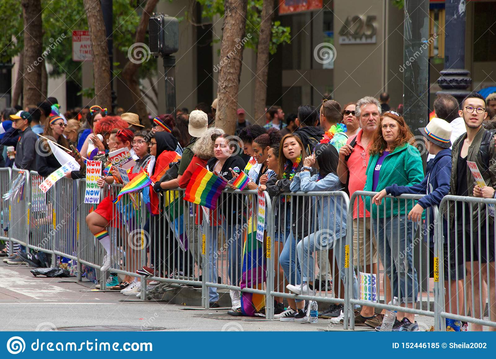 San Francisco 49th Annual Gay Pride Parade Editorial Stock