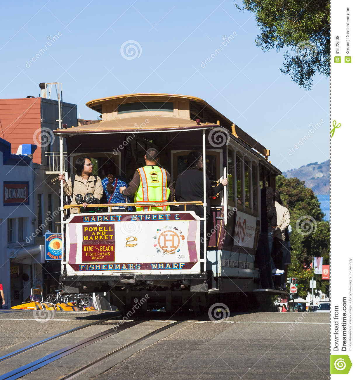 Cable Car Tram In San Francisco, USA Editorial Photo