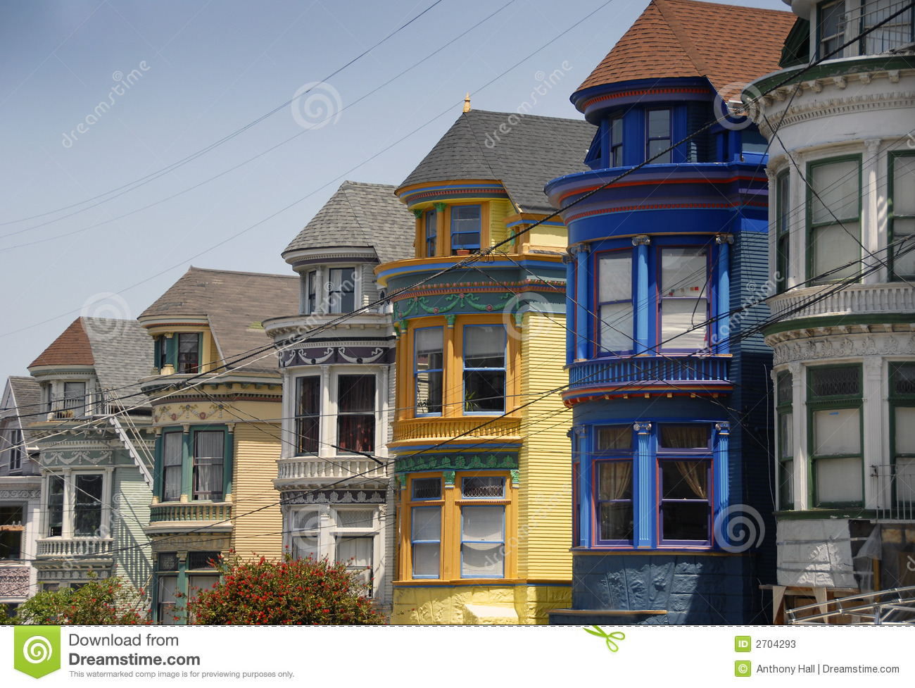 San francisco victorian houses stock image image of for Houses in san francisco