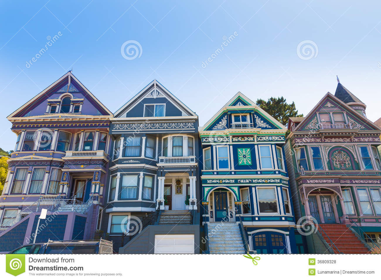 San francisco victorian houses in haight ashbury for San francisco victorian houses