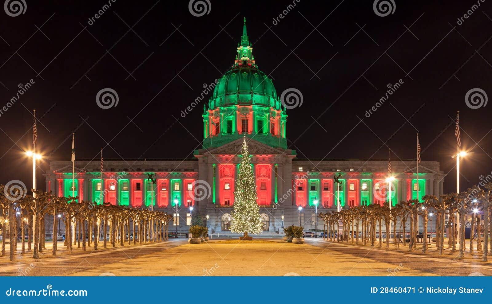 San Francisco Während Des Weihnachten Stockbild - Bild von feiertag ...