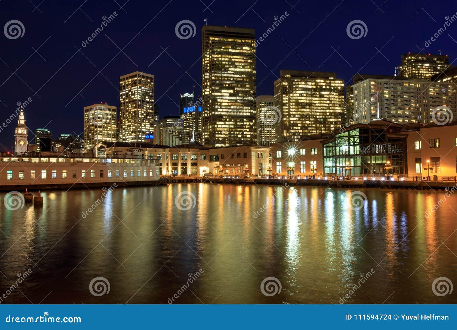 San Francisco Waterfront From The Embarcadero  Stock Photo - Image