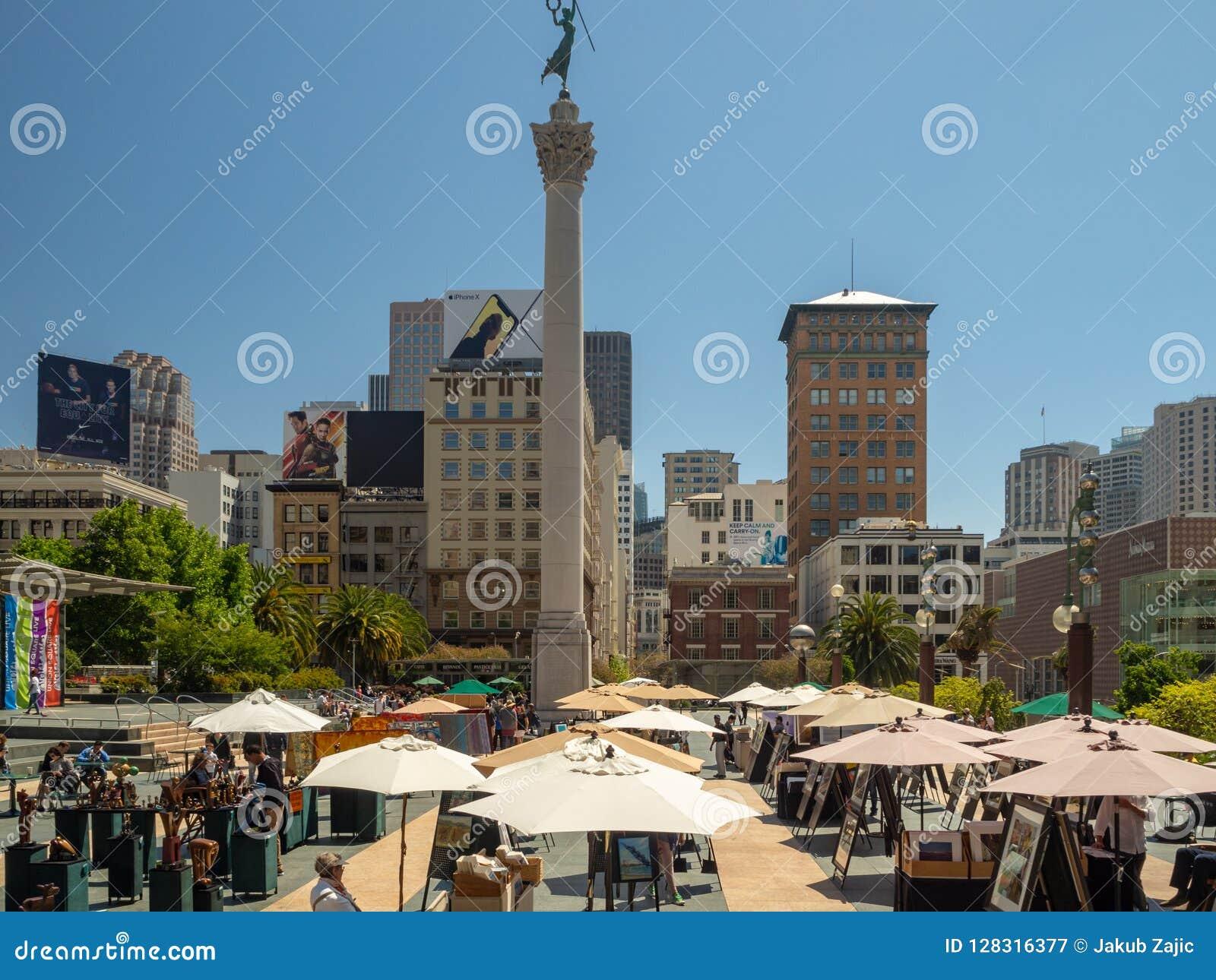 San Fransisco, Kalifornia, usa: Zjednoczenie kwadrata rynek, śródmieście
