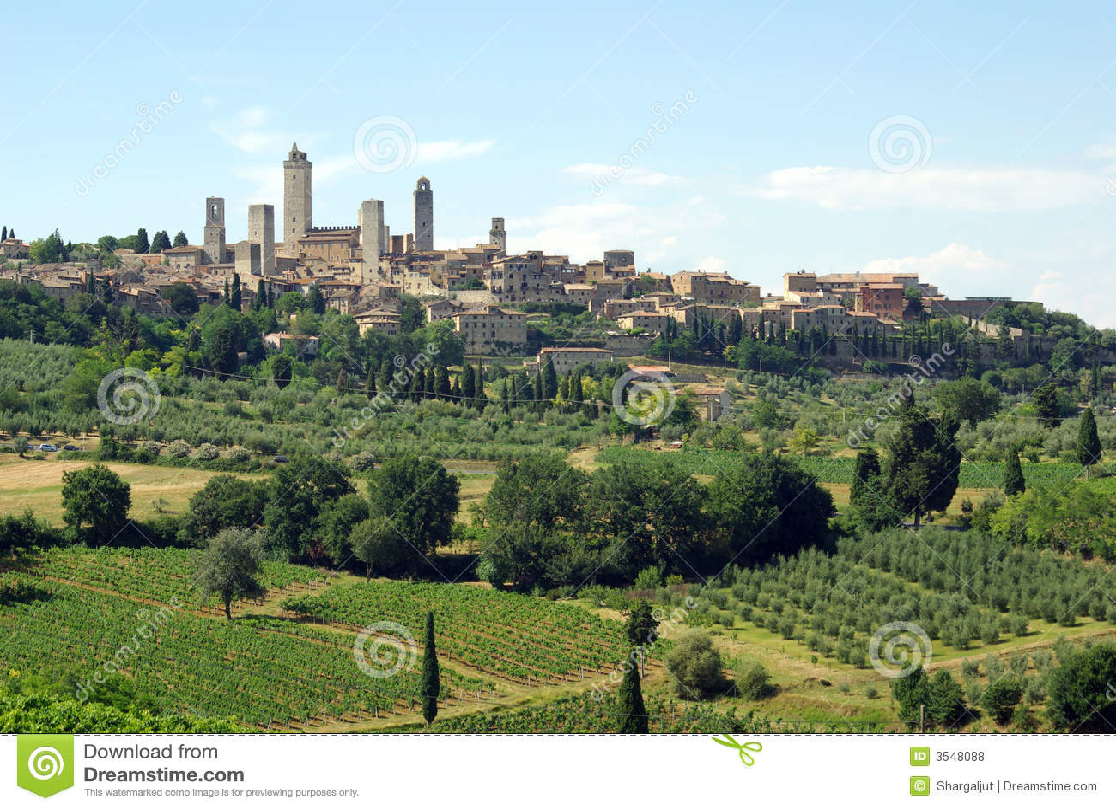San gimignano Włochy Toskanii