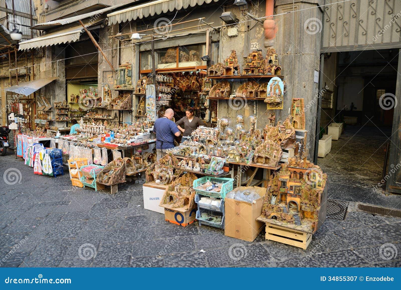 San Gregorio Armeno In Naples Italy Editorial Photography
