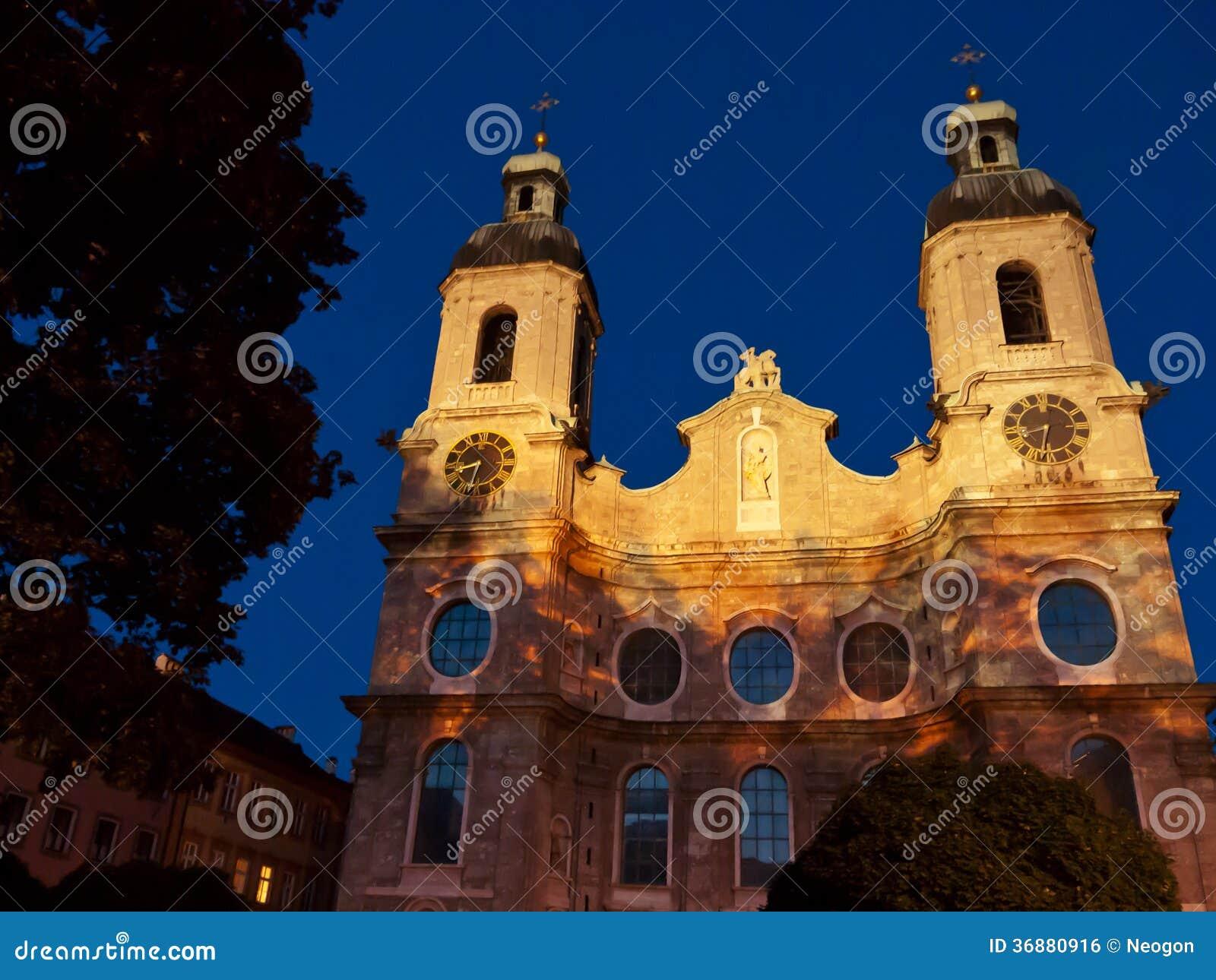 Download San Jacob, Innsbruck, Austria Della Cattedrale Fotografia Stock - Immagine di vecchio, jacob: 36880916