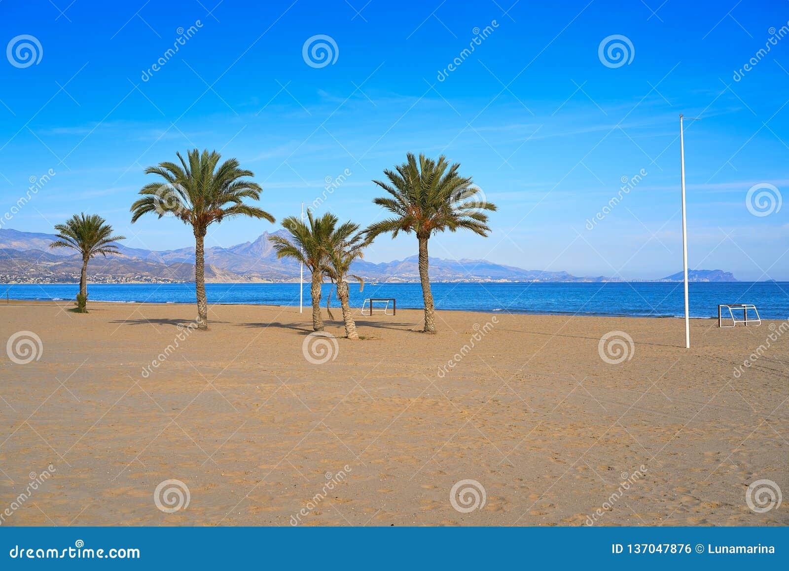 San Juan da Espanha do playa da praia de Alicante