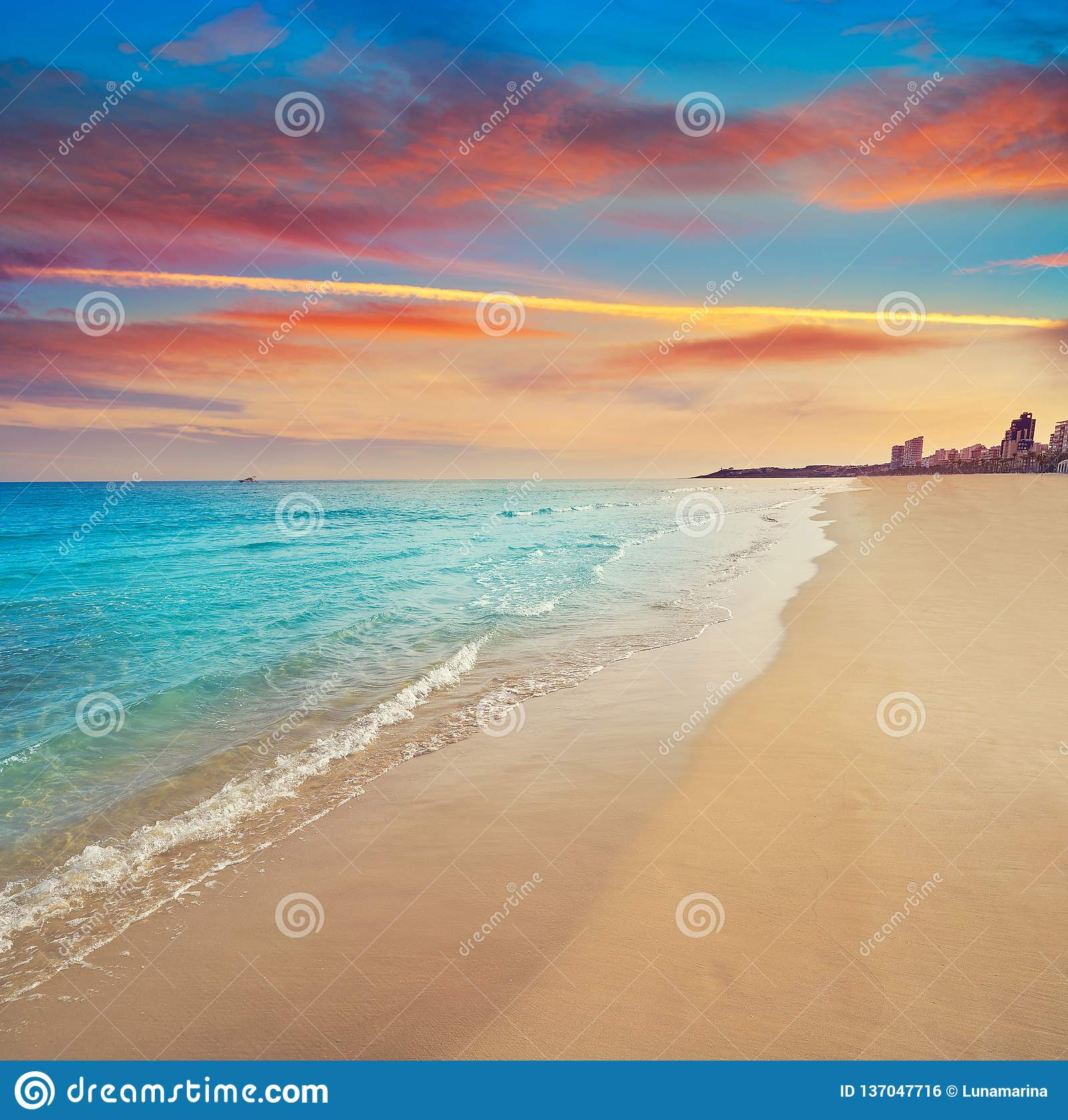 San Juan de playa Espagne de plage d Alicante
