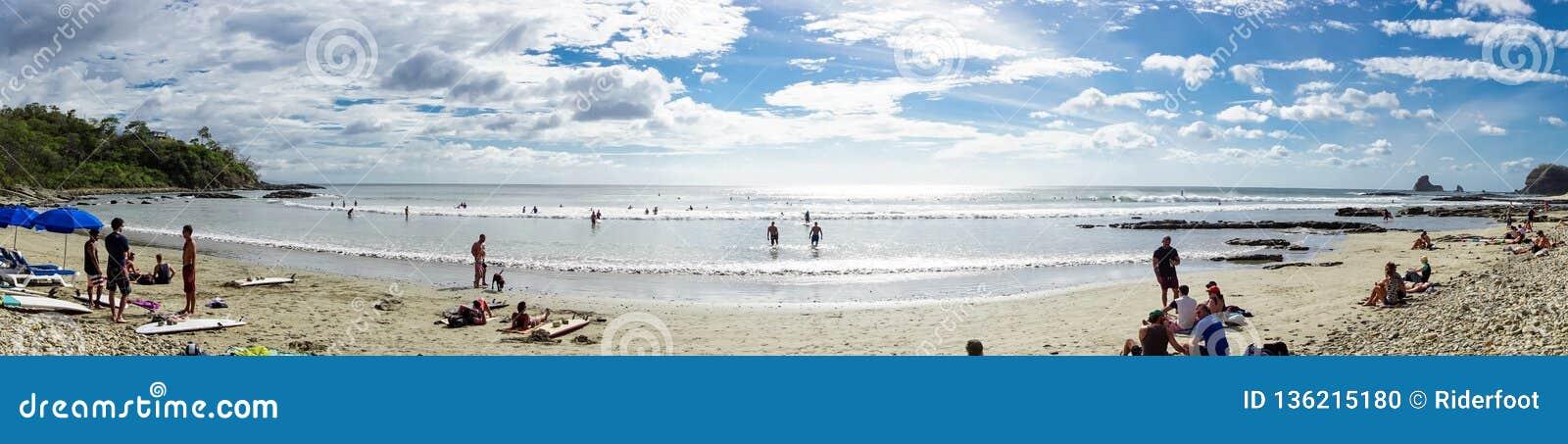 San Juan Del Sur Nicaragua January 19 2018 Playa Maderas Surf