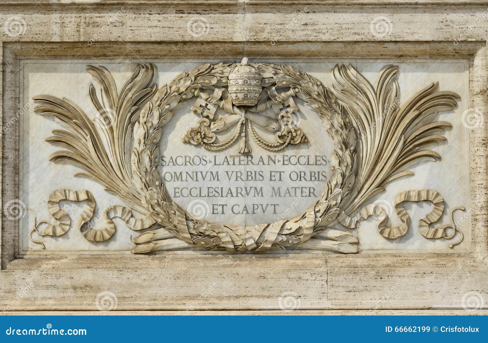 San Juan en la basílica de Lateran en Roma, el churc más importante