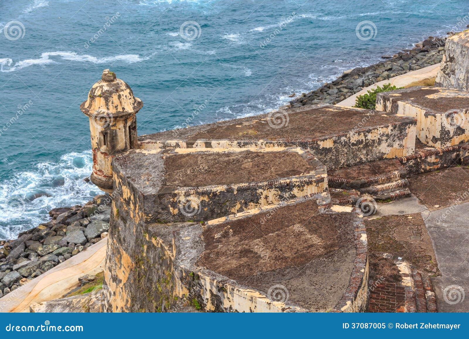 Download San Juan, Fort San Felipe Del Morro Obraz Stock - Obraz złożonej z ocean, forteca: 37087005