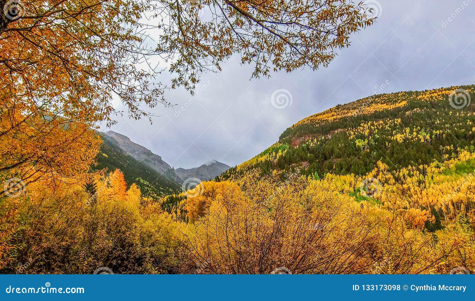 San Juan Mountains sobre el telururo, Colorado