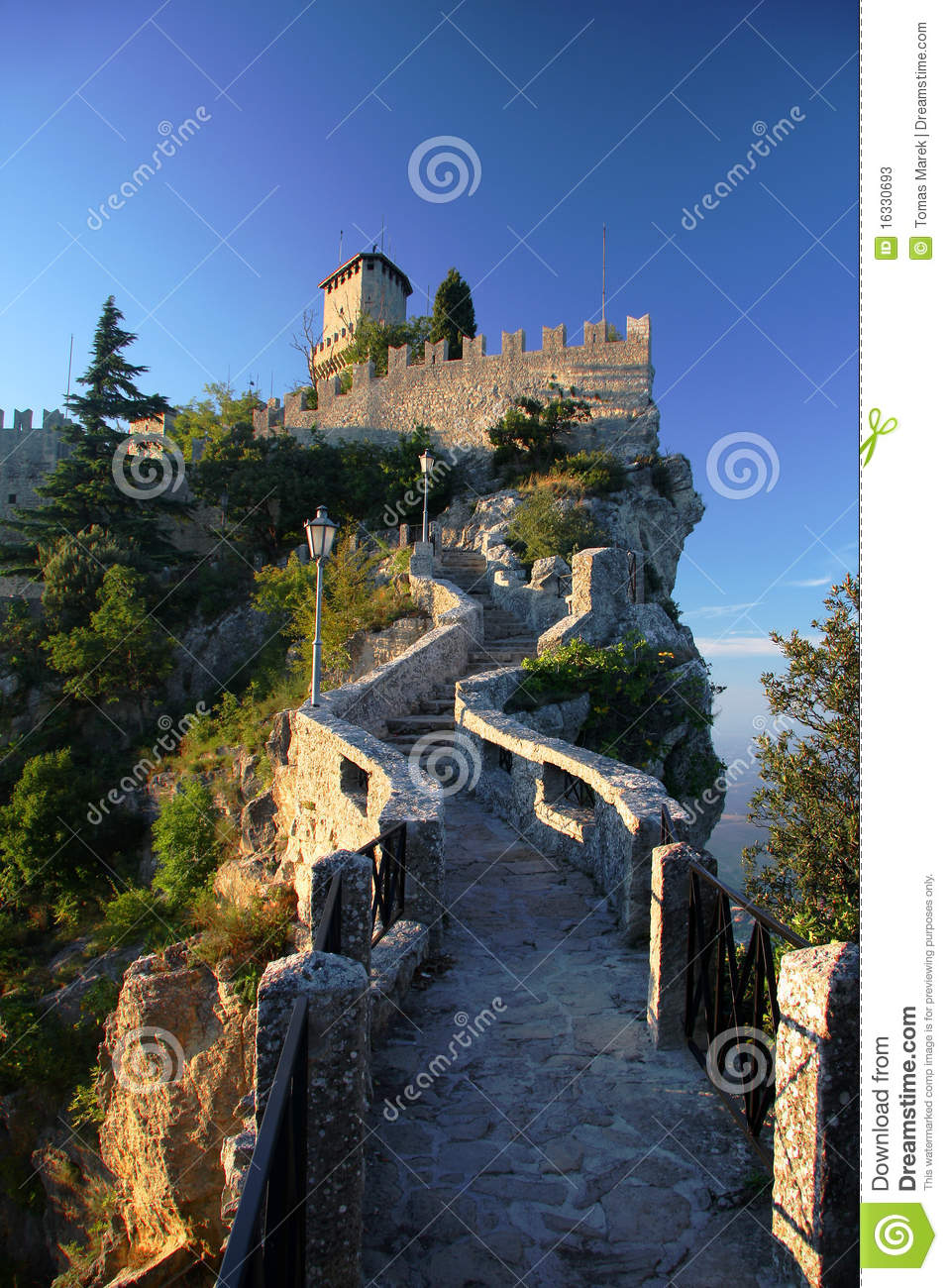 San Marino Castle Stock Photos Image 16330693